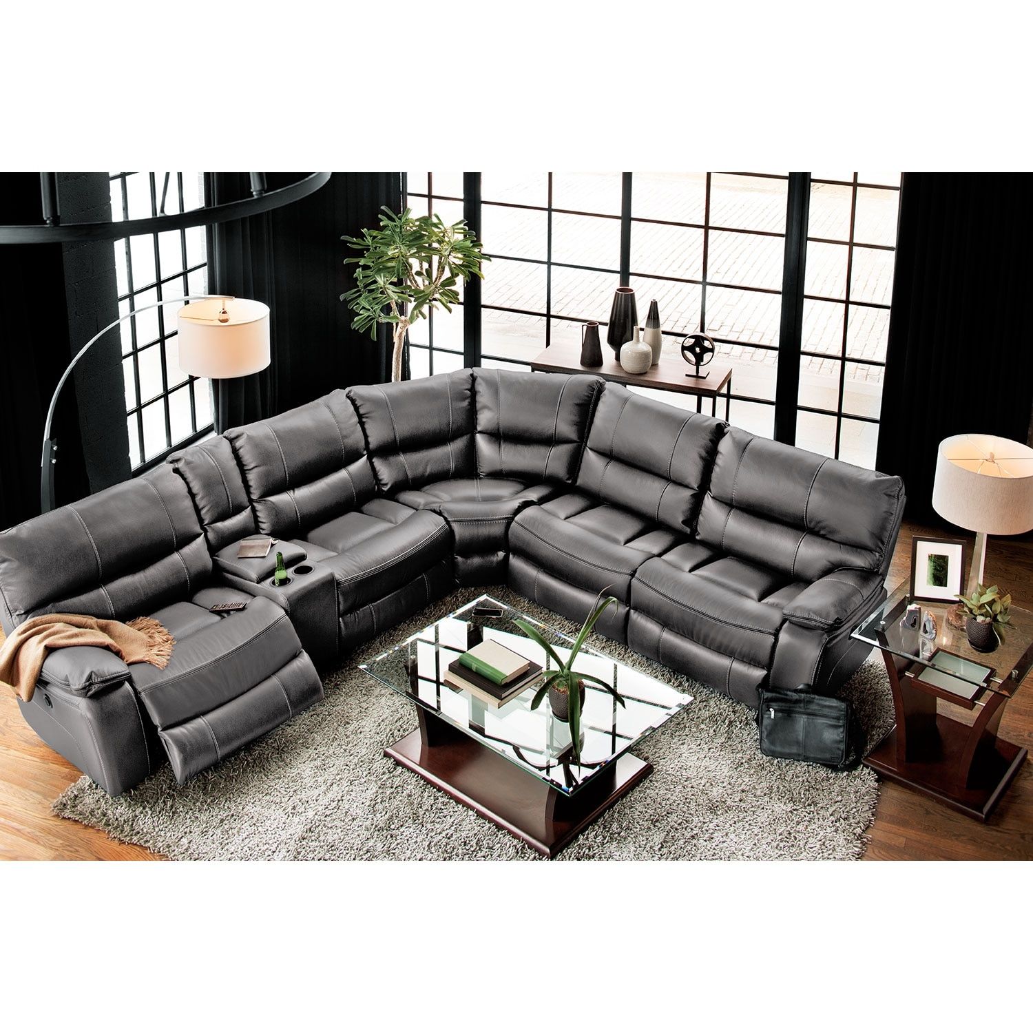 Orlando 6 Pc Power Reclining Sectional Alternate Value City Furniture