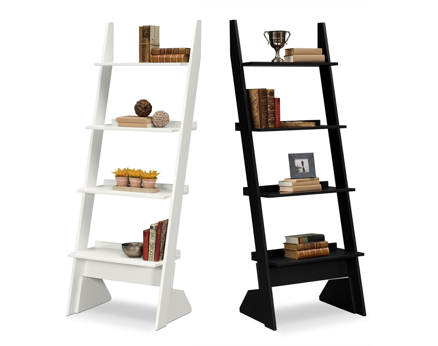 Accent and Occasional Furniture - The Magnolia Collection - Leaning Bookshelf