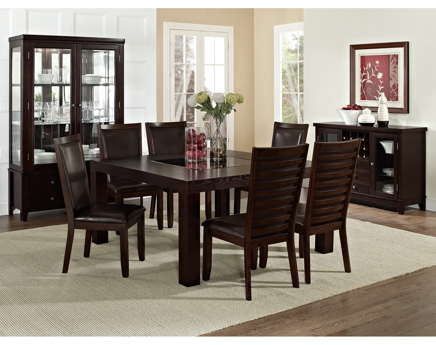 """Dining Room Furniture - The Karmon Costa Brown Collection - 60"""" Dining Table"""