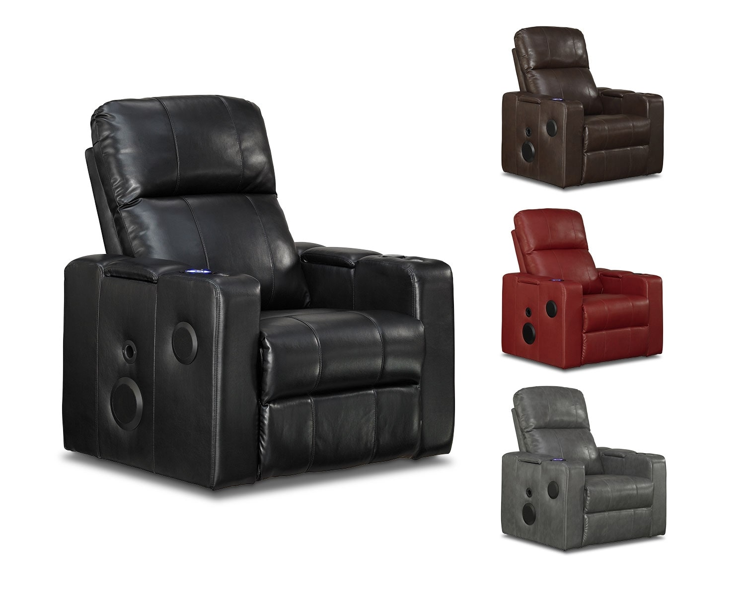 Living Room Furniture - The Skylar Collection - Home Theater Recliner