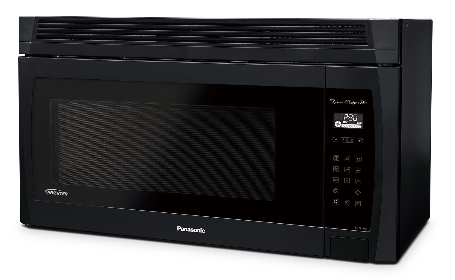 Cooking Products - Panasonic® 2.0 Cu. Ft. Genius® Prestige® Plus Over-the-Range Microwave Oven - Black