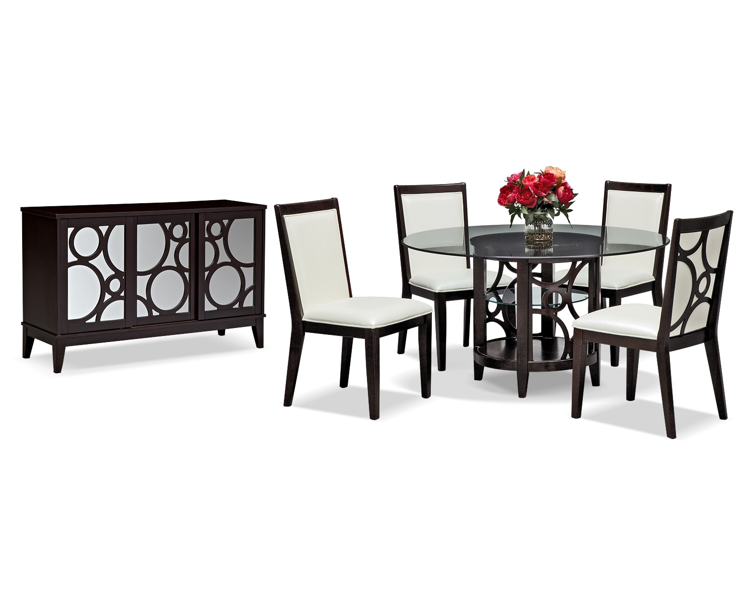 """Dining Room Furniture - The Brighton II Pearl Collection - 60"""" Dining Table"""