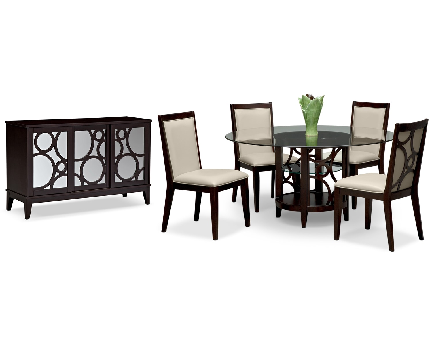 "Dining Room Furniture - The Brighton II Parchment Collection - 60"" Dining Table"
