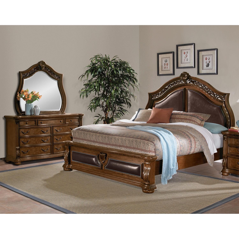 Morocco 5 Piece King Bedroom Set Pecan American