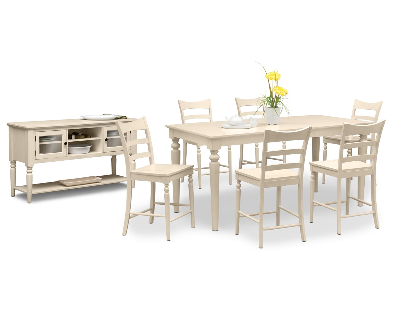 Dining Room Furniture - The Thompson II Cream Collection - Counter-Height Table