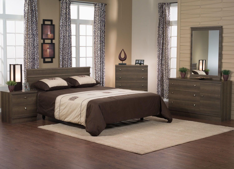 Bedroom Furniture - Loft 5-Piece Queen Bedroom Package – Grey-Brown