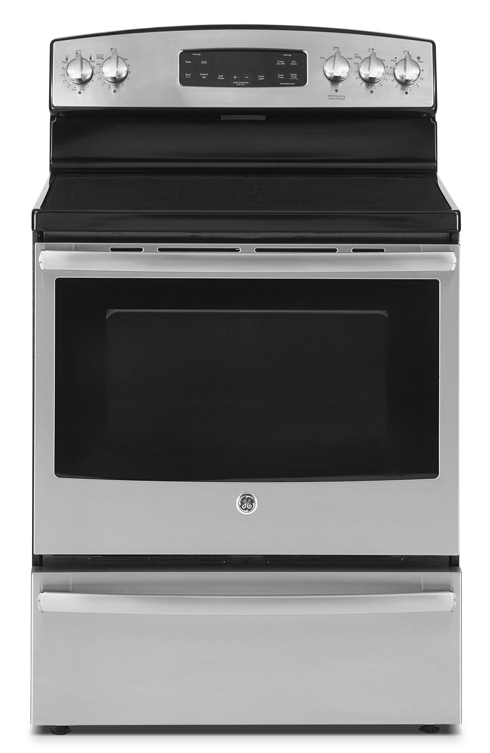[GE Stainless Steel Freestanding Electric Convection Range (5.0 Cu. Ft.) - JCB860SJSS]