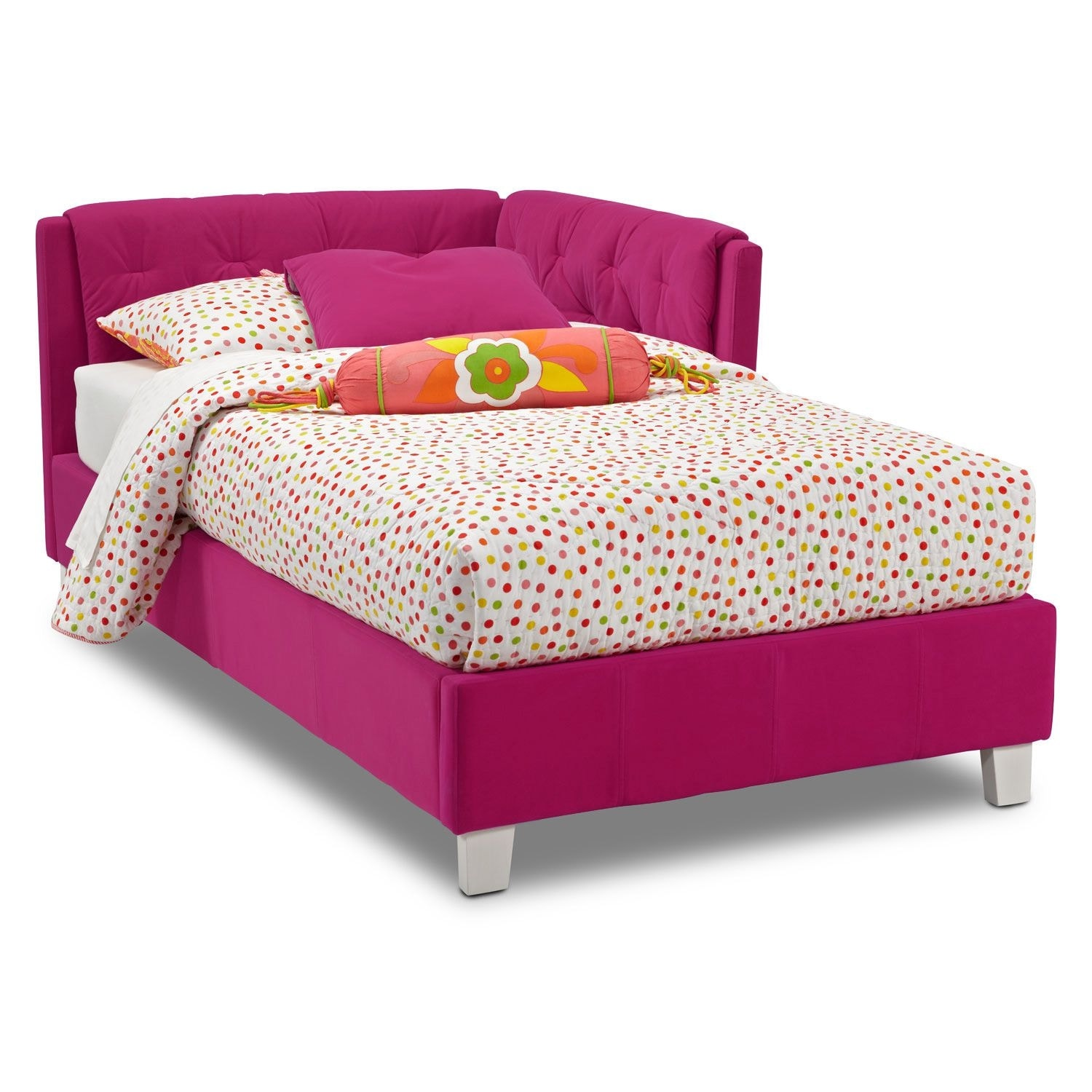 jordan twin corner bed pink value city furniture