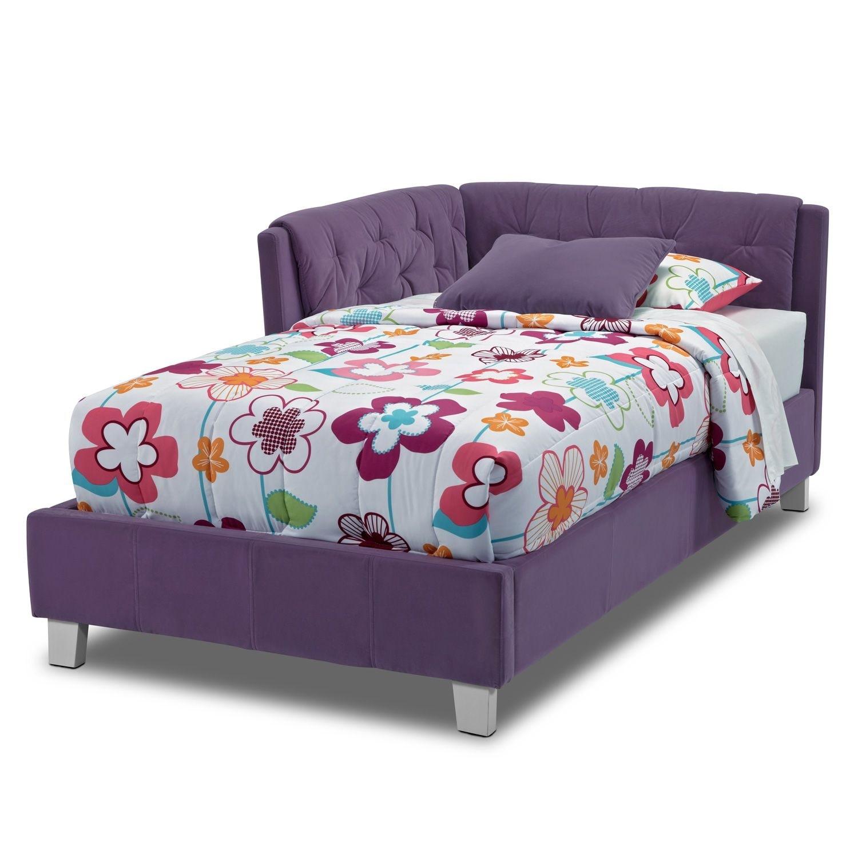 jordan iii twin corner bed value city furniture. Black Bedroom Furniture Sets. Home Design Ideas