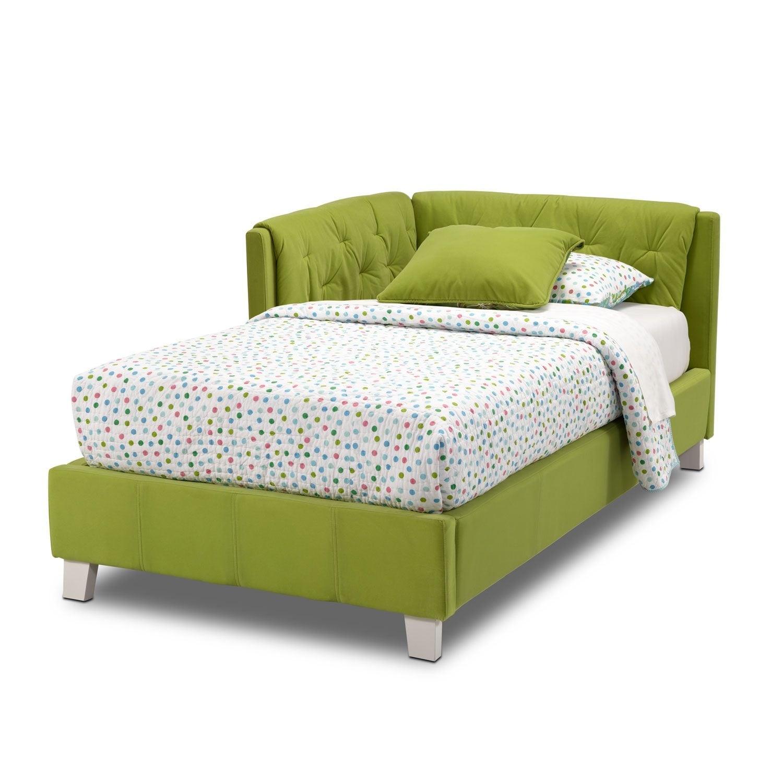 jordan twin corner bed green value city furniture. Black Bedroom Furniture Sets. Home Design Ideas