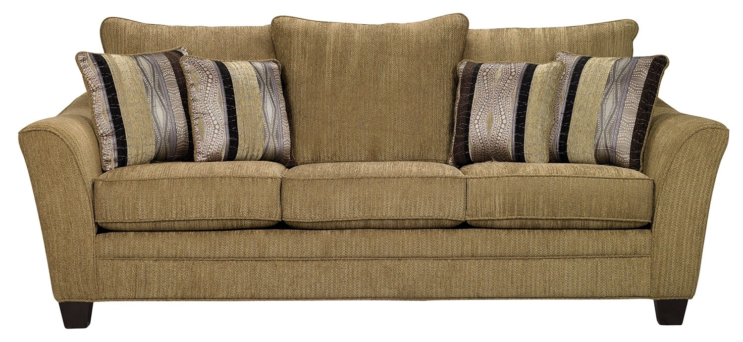 Allen Chenille Queen-Size Sofa Bed – Taupe
