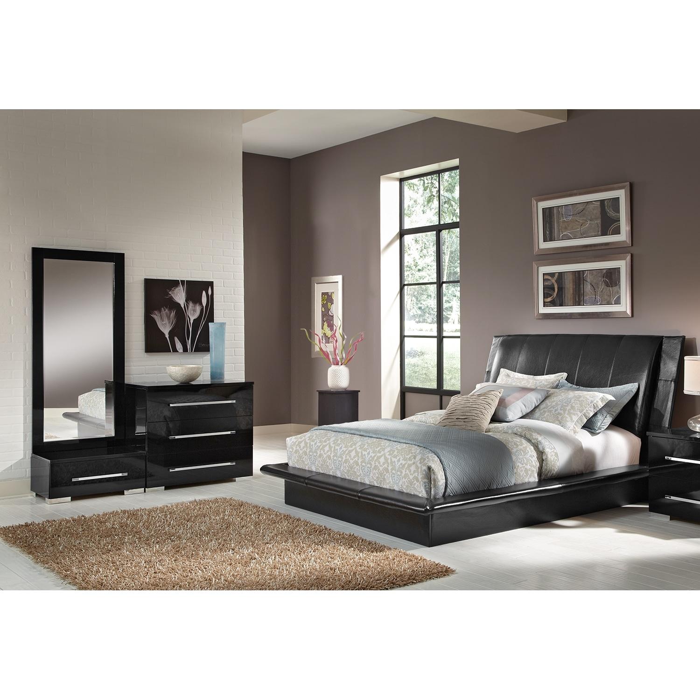 Dimora Black 5 Pc Queen Bedroom Alternate Value City Furniture