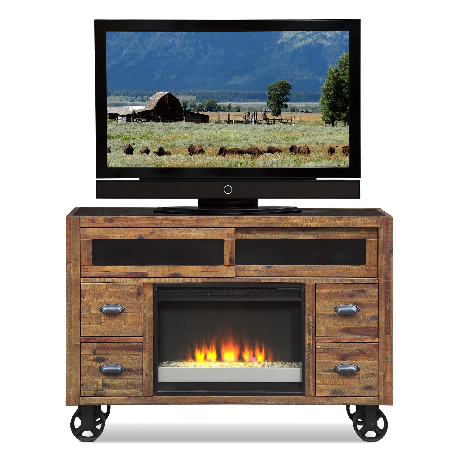 Andover Entertainment Wall Units Fireplace Tv Stand
