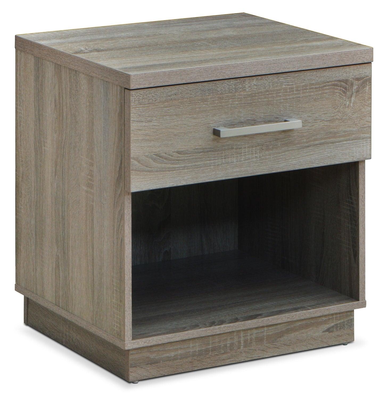 Bedroom Furniture - Dane Night Stand - Grey