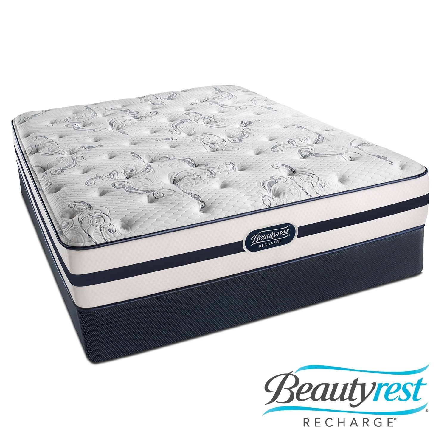[Justine Plush Queen Mattress/Foundation Set]