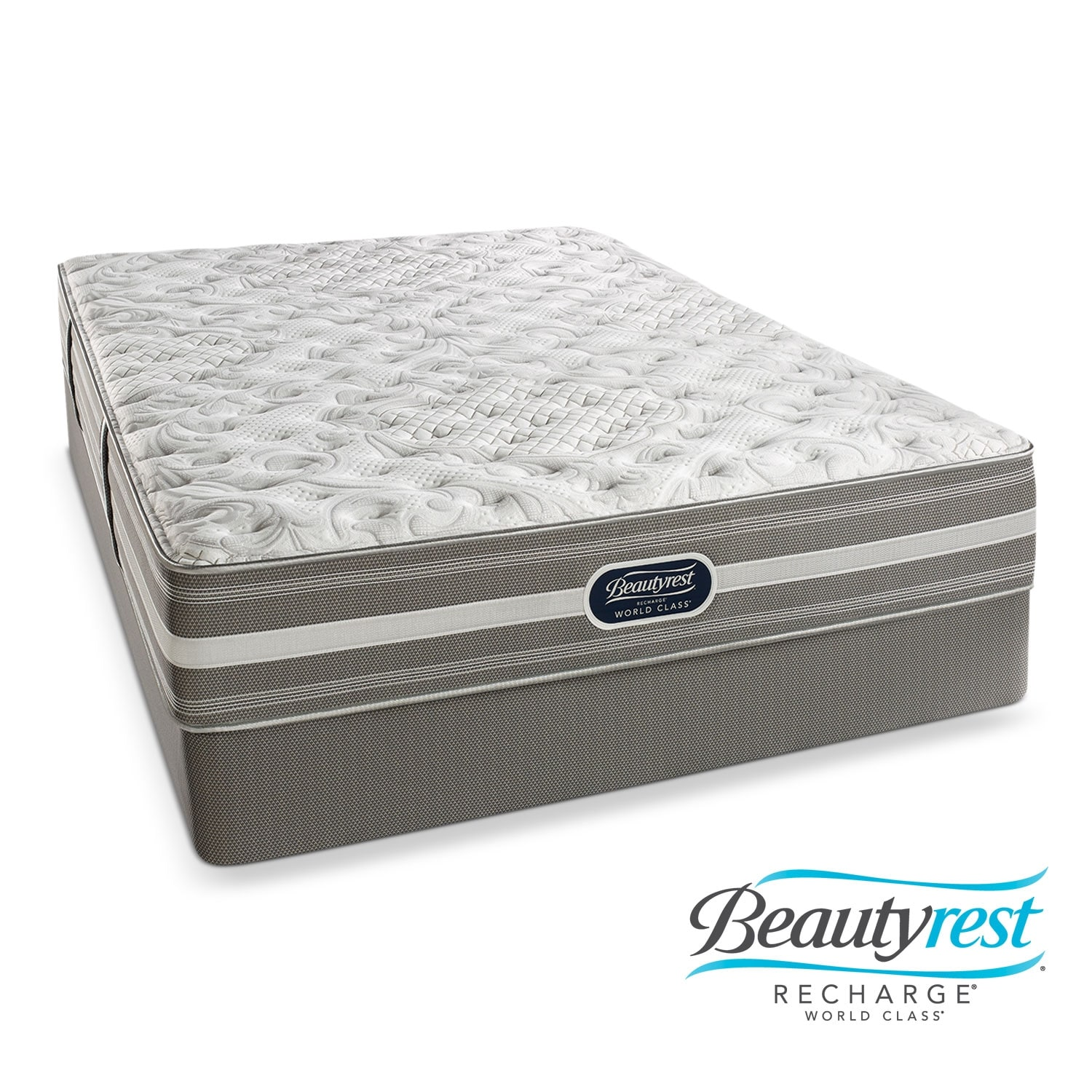 [Wesley Extra Firm Full Mattress/Low Profile Foundation Set]