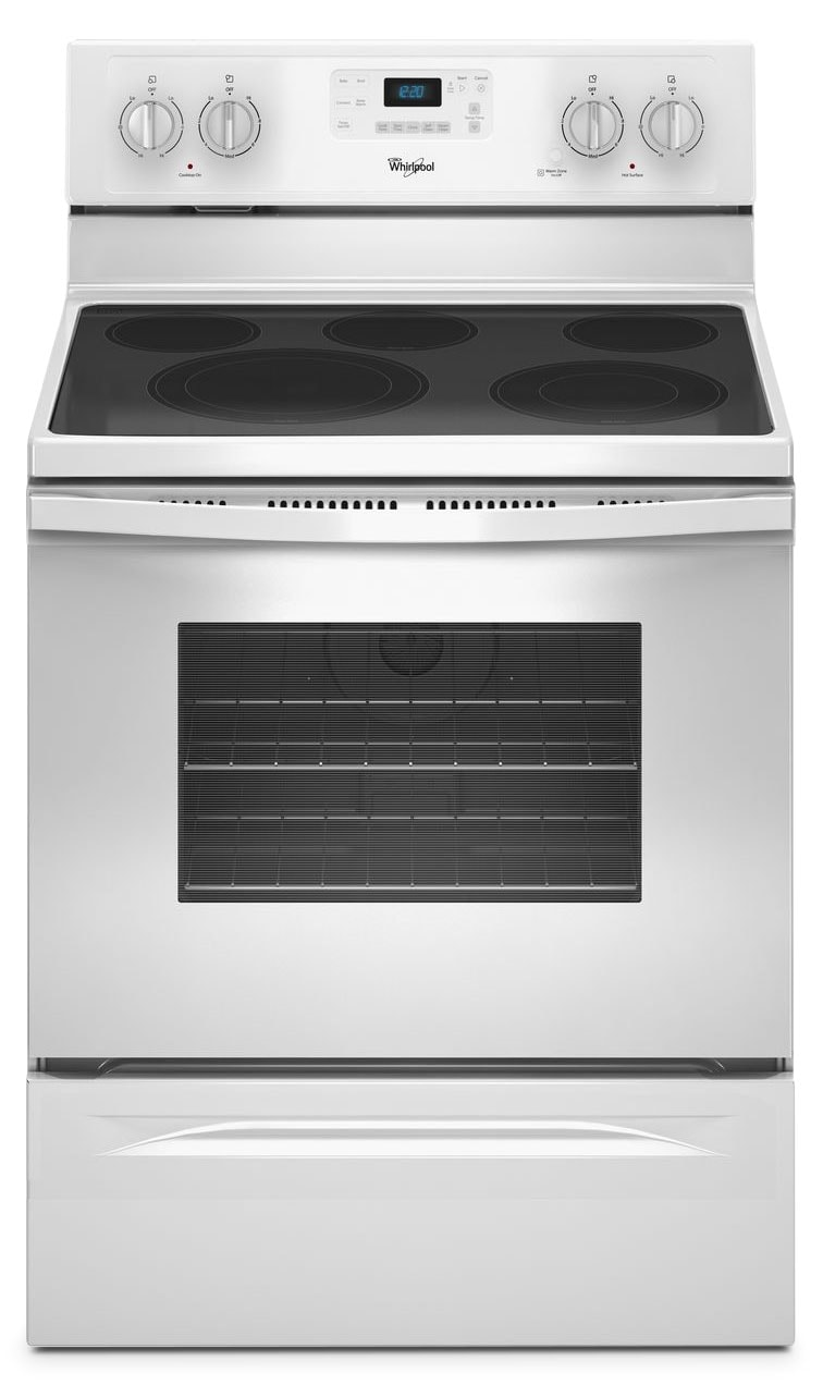 whirlpool electric range whirlpool 174 5 3 cu ft electric range white united 10064
