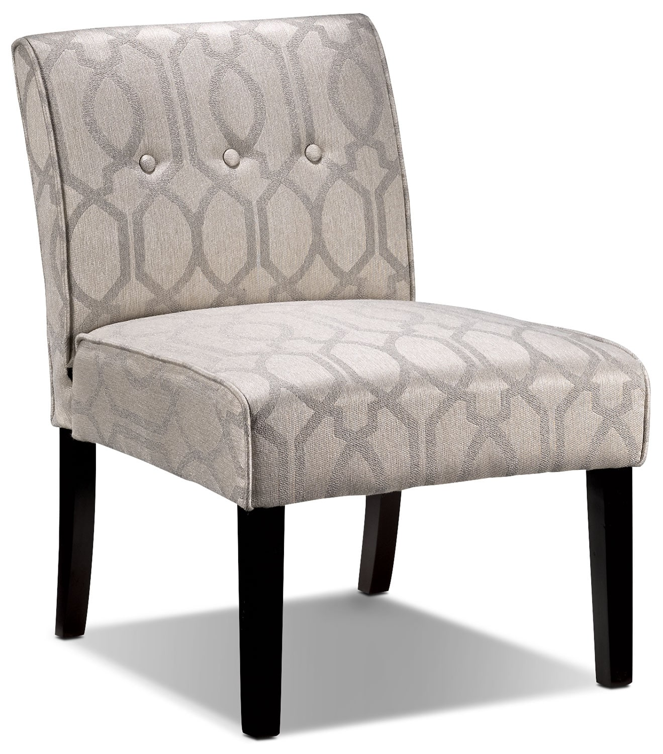 Candace accent chair beige leon 39 s for Accent furniture
