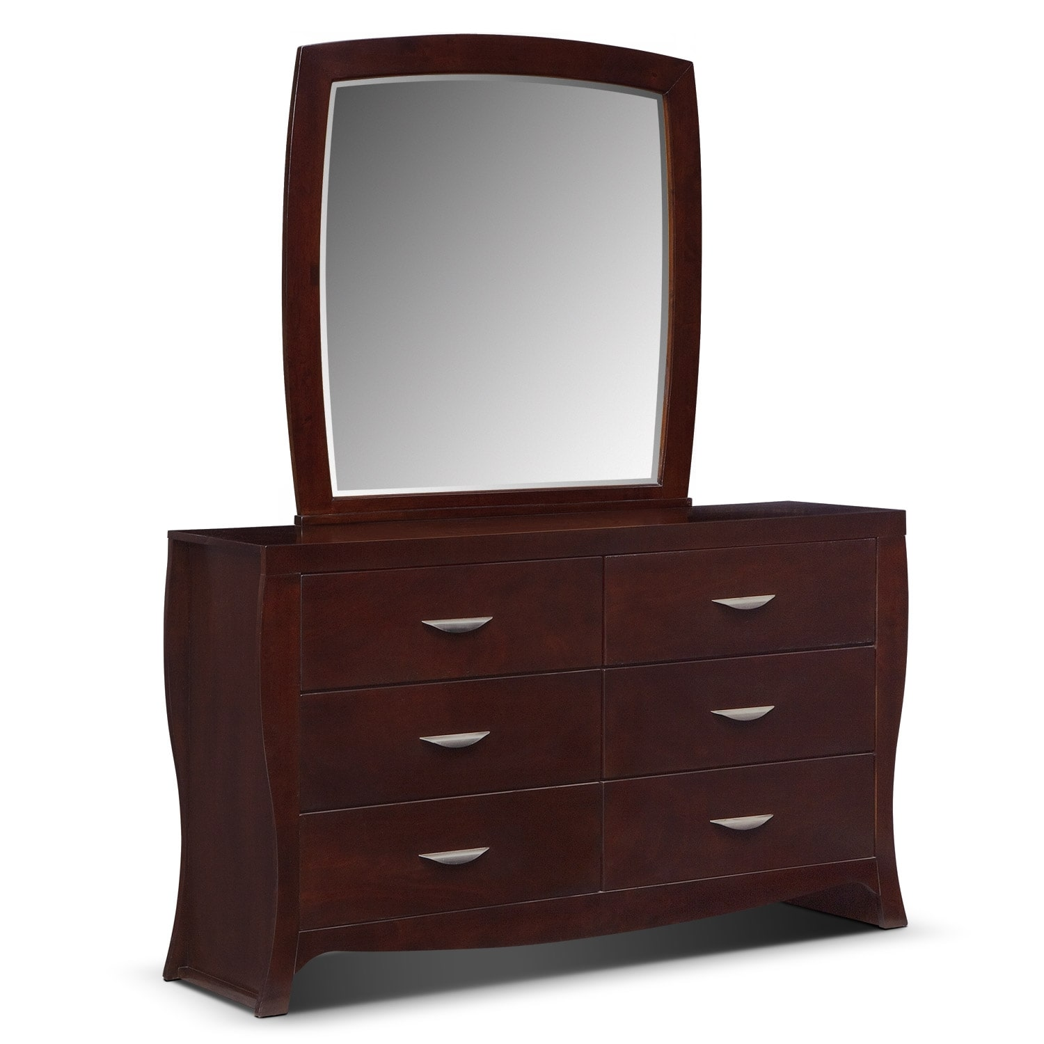 jaden dresser and mirror merlot value city furniture