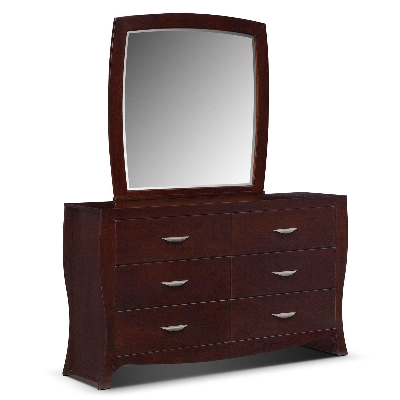 Jaden Dresser Mirror Value City Furniture