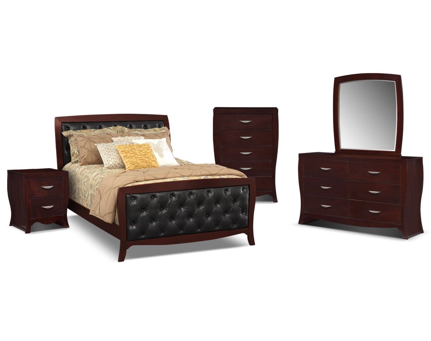 tufted bedroom collection merlot american signature furniture