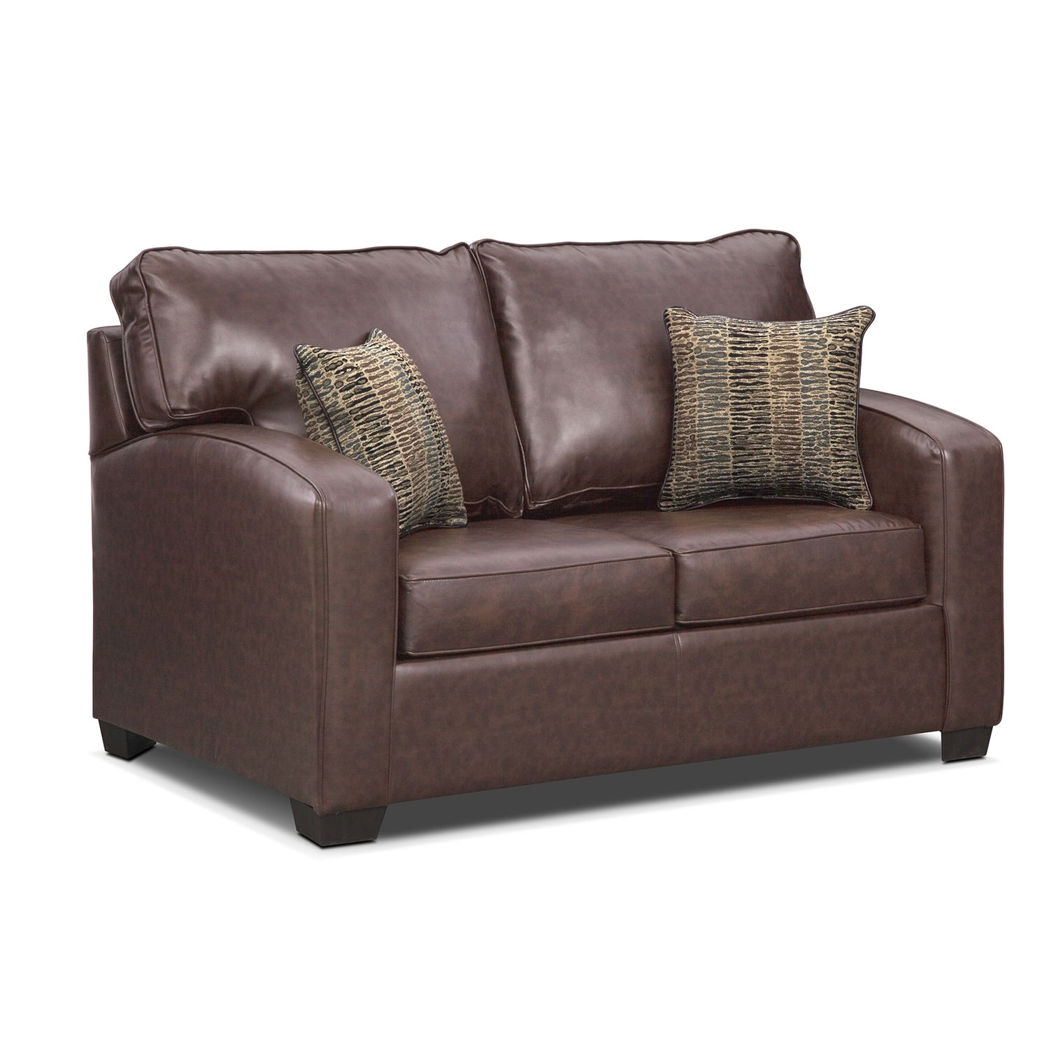 Brookline Twin Innerspring Sleeper Sofa Brown Value City Furniture
