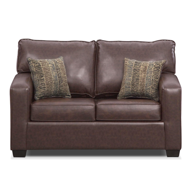 Brookline Twin Innerspring Sleeper Sofa Brown Value