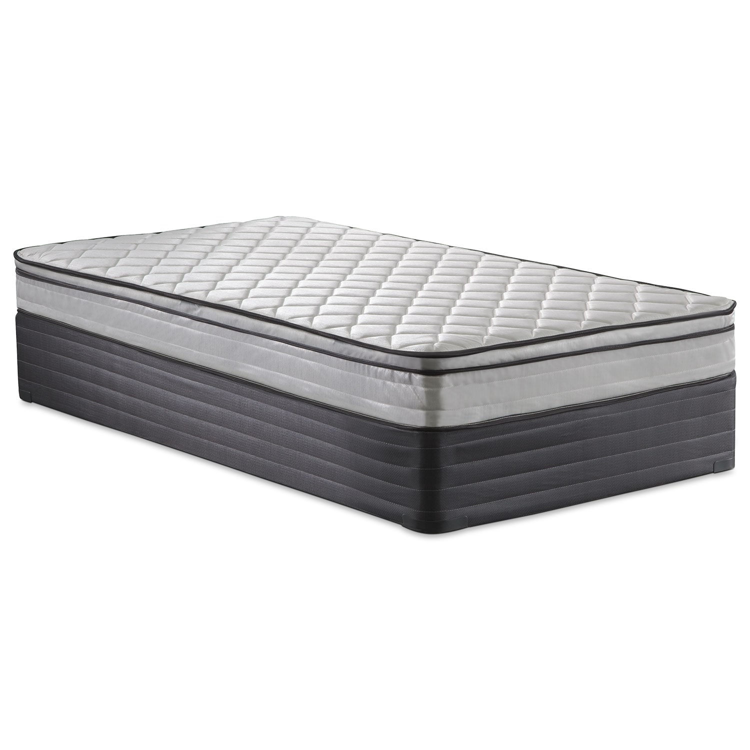 Mirage Twin Mattress Foundation Set