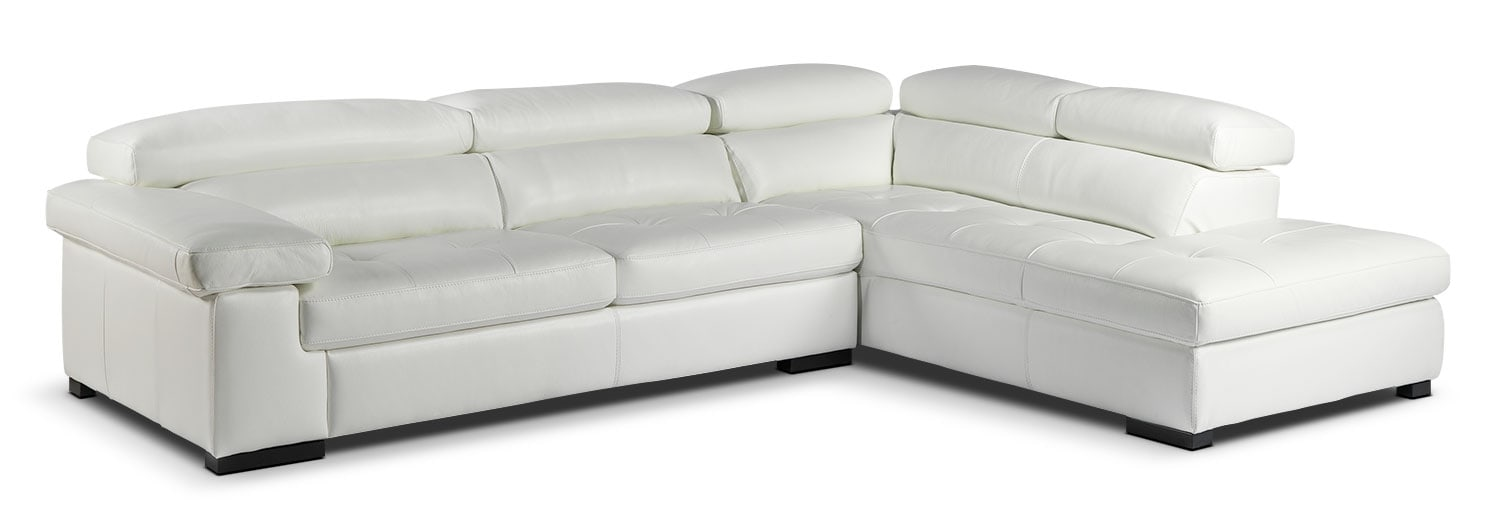 Living Room Furniture - Underwood 2 Pc. Sectional - White