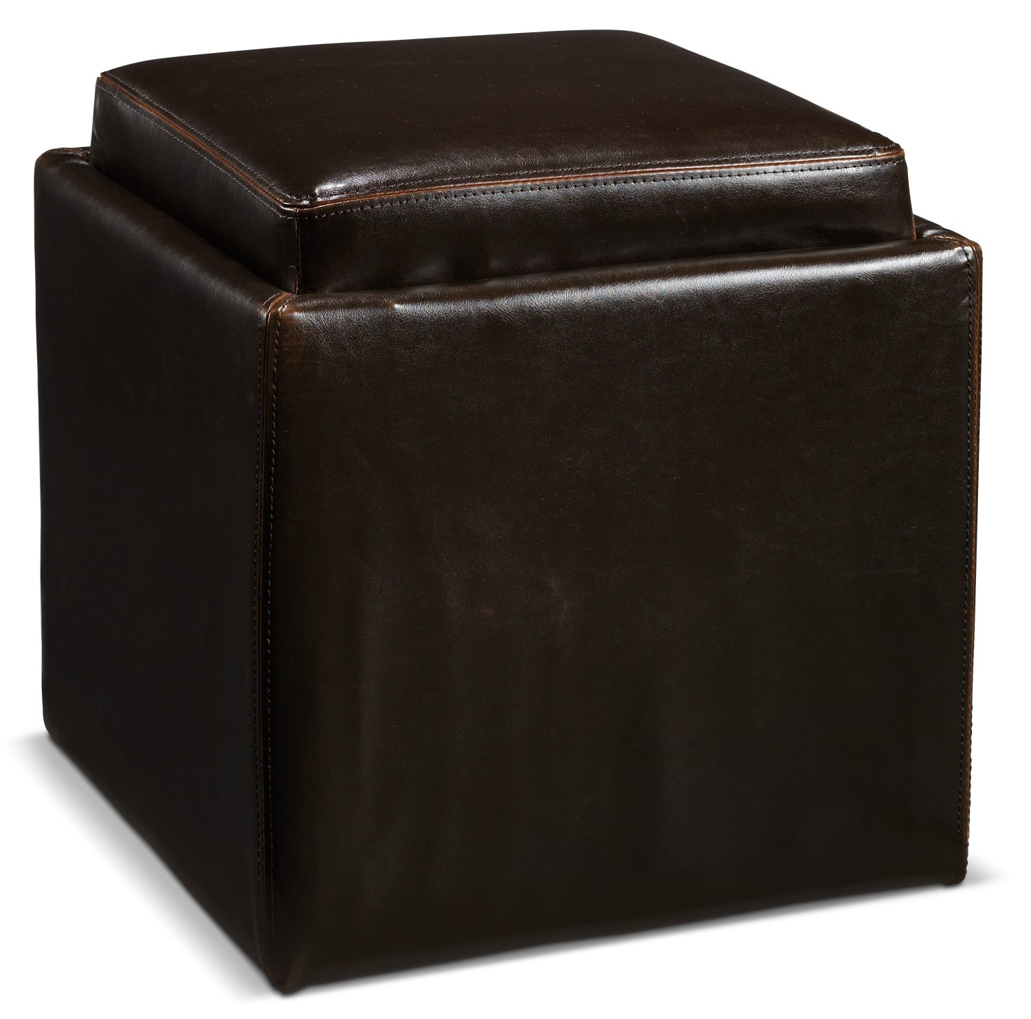 Living Room Furniture - Aaliyah Storage Ottoman - Espresso