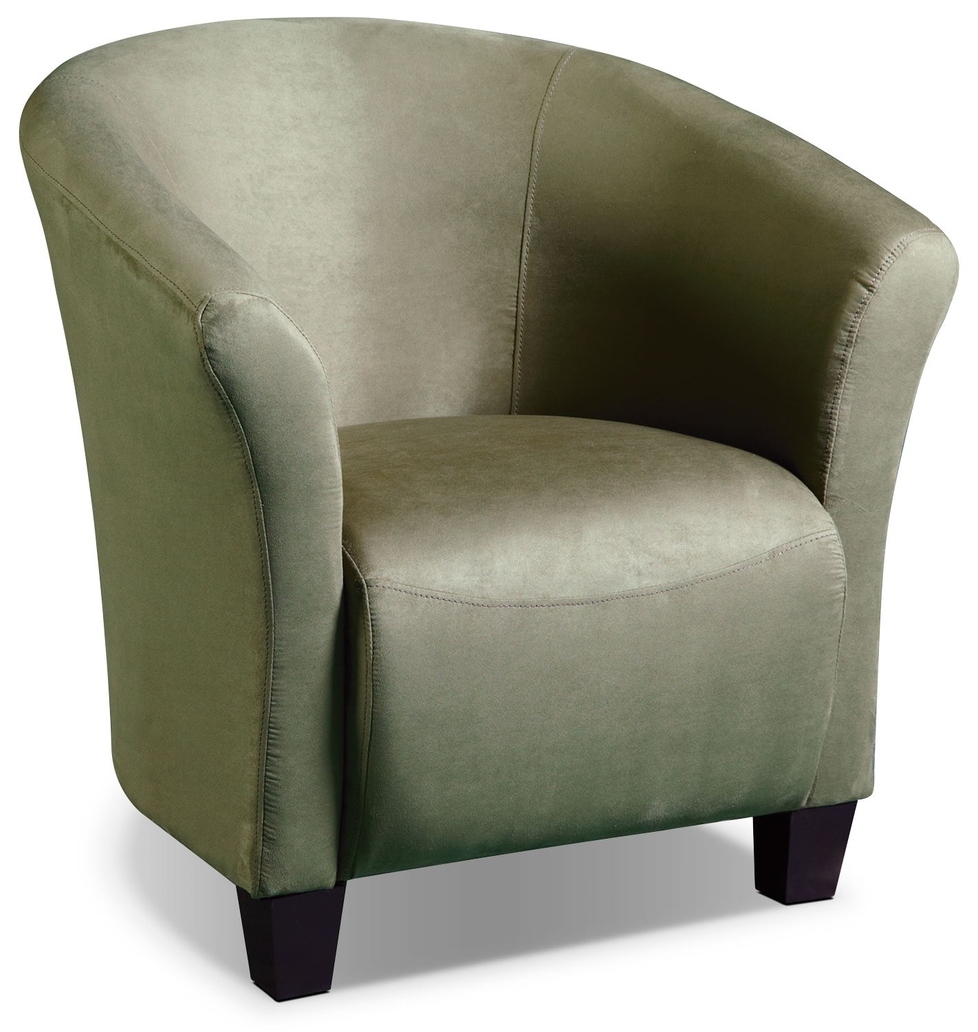 Living Room Furniture - Sage Microsuede Tub Chair