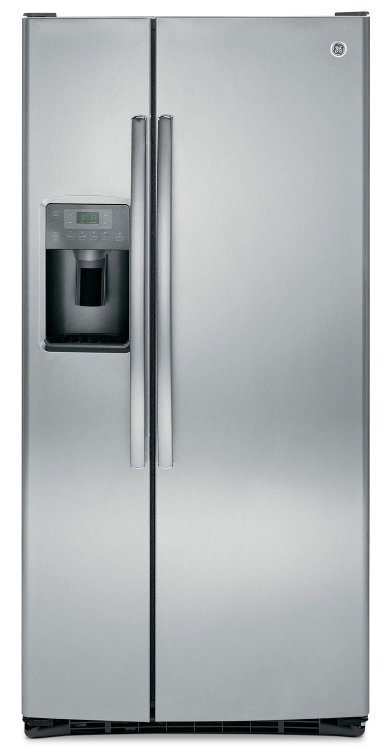 Refrigerators and Freezers - GE 23.1 Cu. Ft. Side-by-Side Refrigerator - Stainless Look