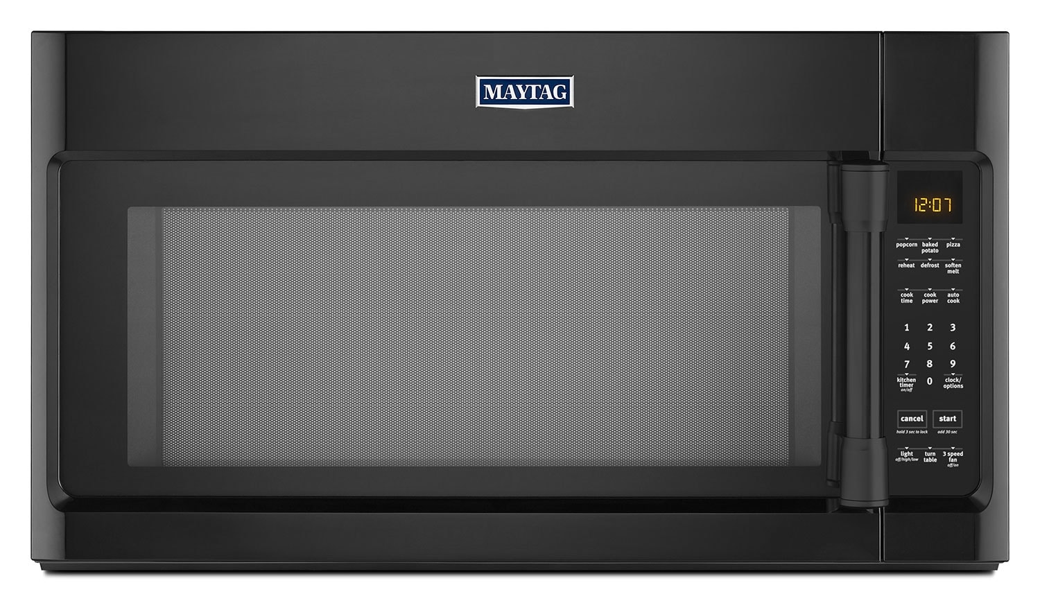 Cooking Products - Maytag Black Over-the-Range Microwave (2.0 Cu. Ft.) - YMMV4205DB