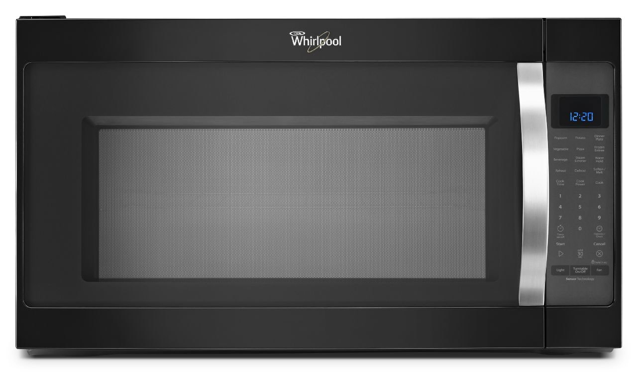 Cooking Products - Whirlpool Black Over-the-Range Microwave (2.0 Cu. Ft.) - YWMH53520CE