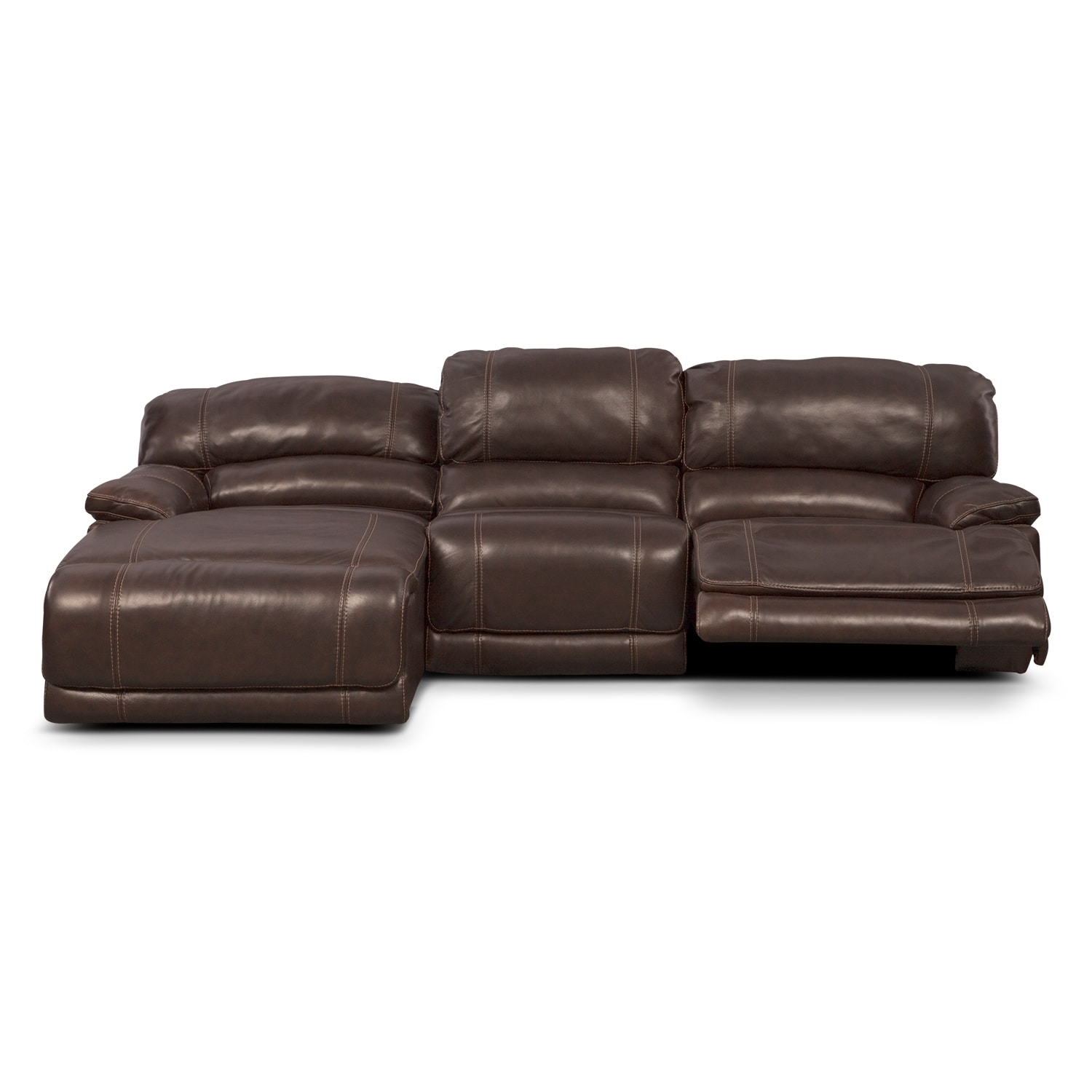 St malo 3 piece power reclining sectional with left for 3pc sectional with chaise