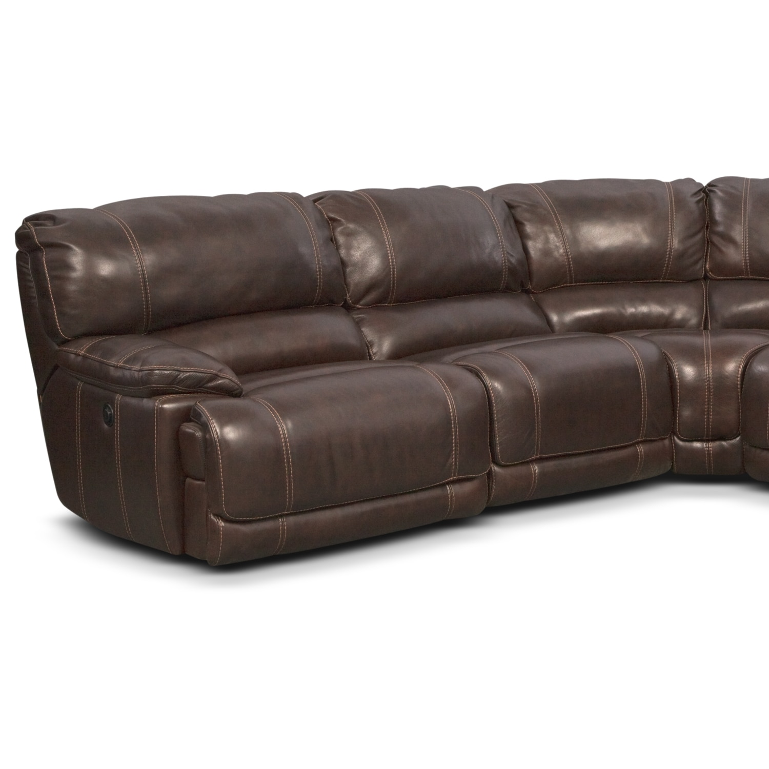 Clinton Brown 5 Pc Power Reclining Sectional Furniture Com