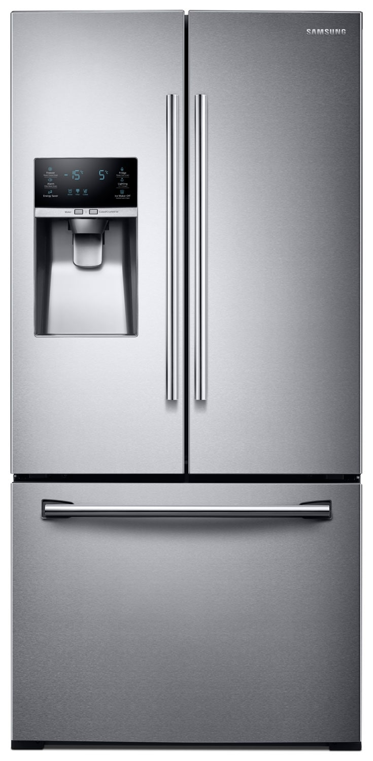 Refrigerators and Freezers - Samsung® 25.5 Cu. Ft. French Door Refrigerator - Stainless Steel