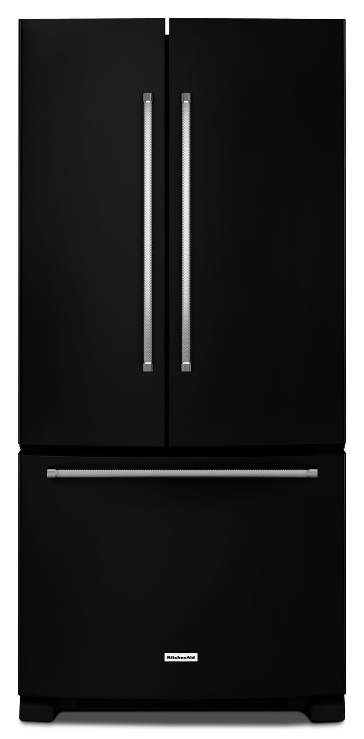 Refrigerators and Freezers - KitchenAid 22.1 Cu. Ft. French Door Refrigerator with Interior Water Dispenser - Black