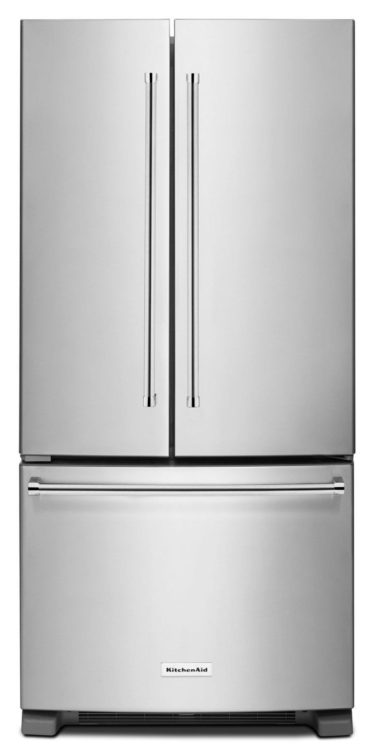 Kitchenaid 22 1 cu ft french door refrigerator with interior water dispenser stainless steel for Interior water dispenser refrigerator