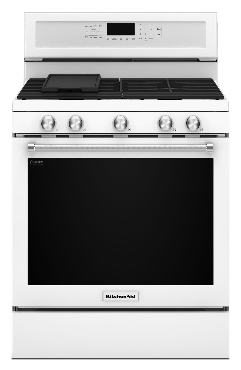 Kitchenaid 5 8 cu ft five burner gas convection range for Kitchenaid 0 finance