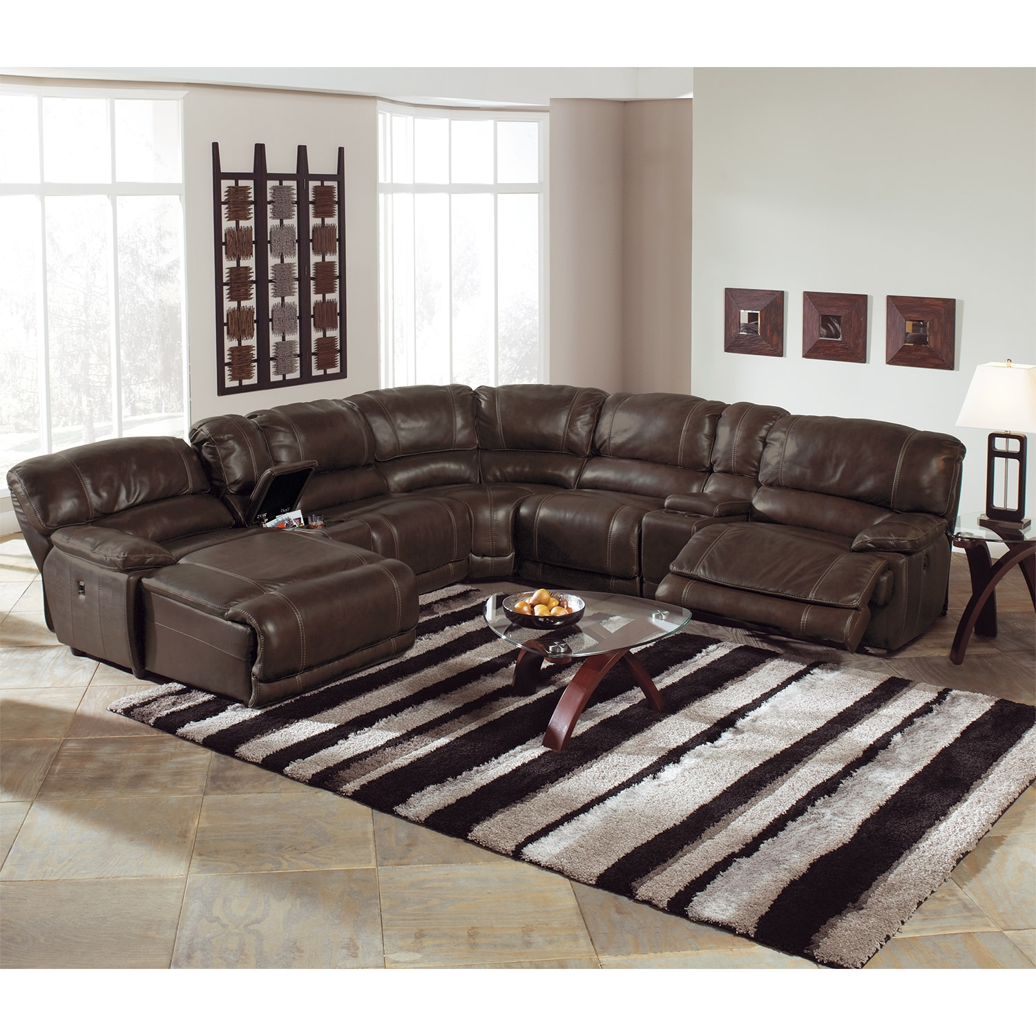 Catnapper Perez Power Reclining Sofa With Pillow Topped Cushions