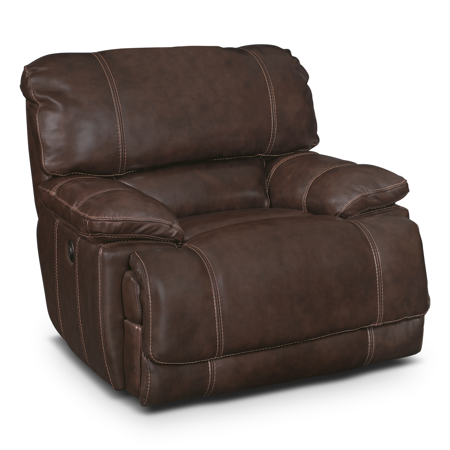 Living Room Furniture - Clinton Brown Power Recliner
