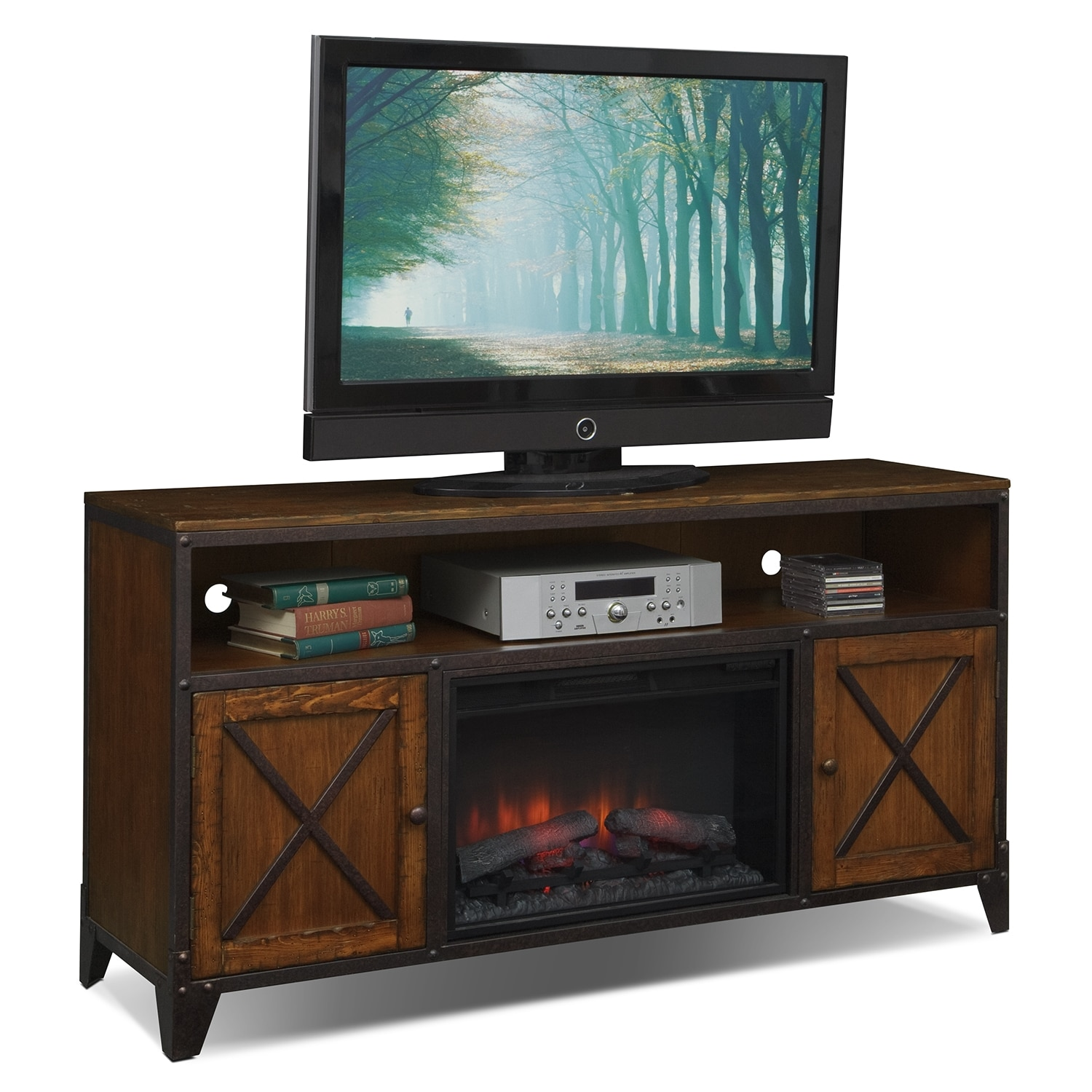 Erie Entertainment Wall Units Fireplace Tv Stand