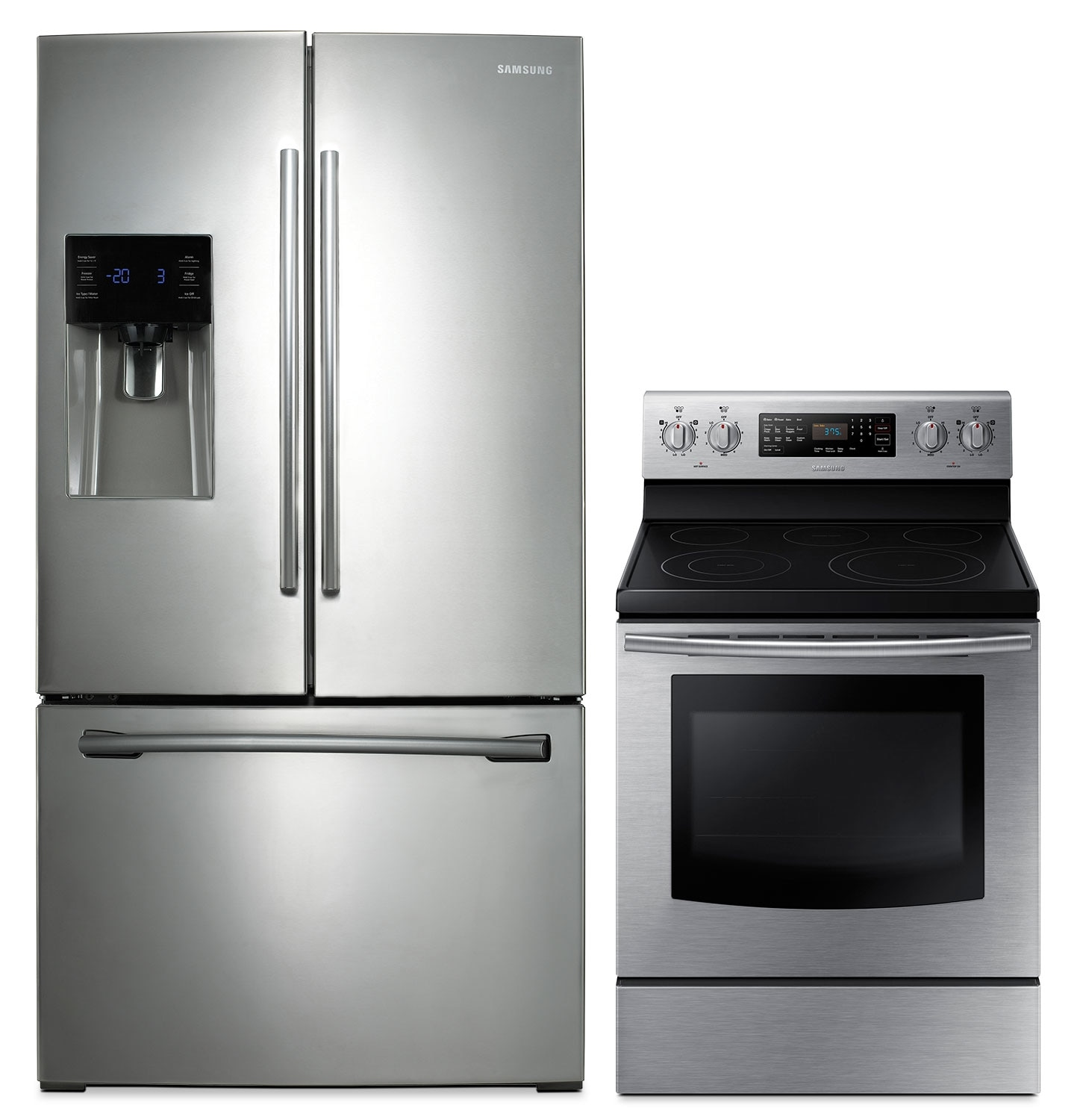 Cooking Products - Samsung 26 Cu. Ft. French Door Refrigerator and 5.9 Cu. Ft. Convection Range Package