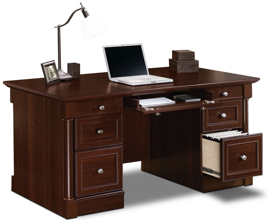Palladia executive desk select cherry the brick