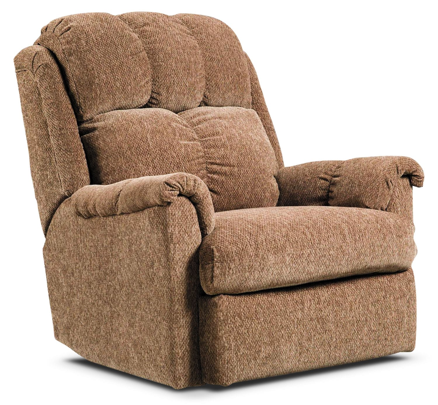 Living Room Furniture - Brown Chenille Power Reclining Chair