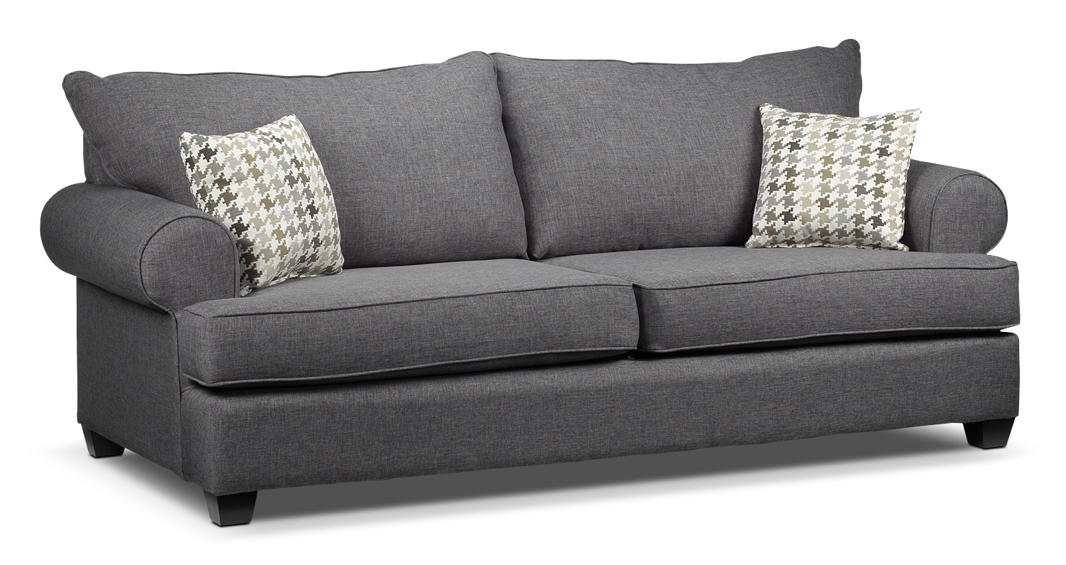 Living Room Furniture - Lexie Sofa - Gray