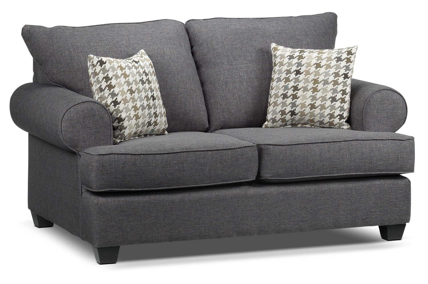 Living Room Furniture - Lexie Loveseat - Gray