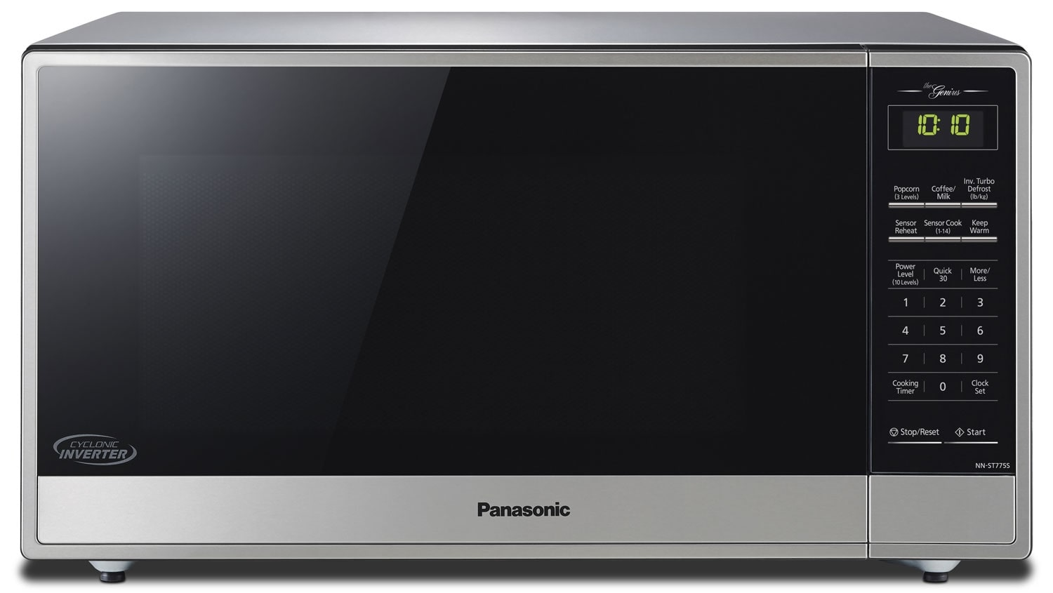 Panasonic 1 6 Cu Ft Countertop Microwave Stainless Steel United Furniture Warehouse