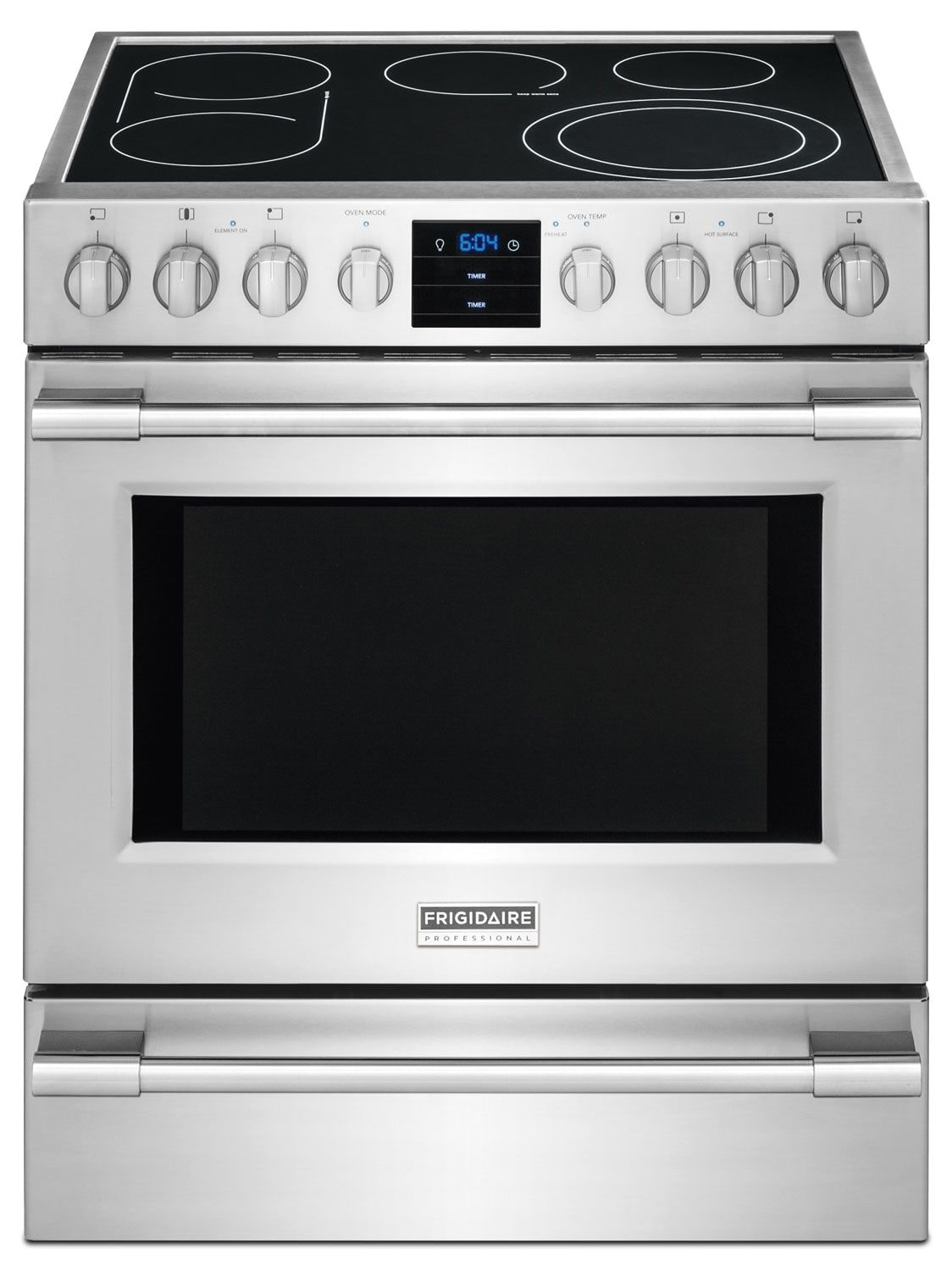 Cooking Products - Frigidaire Professional 5.1 Cu. Ft. Slide-In Electric Range - Stainless Steel